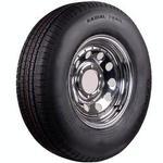 ST215/75R-14C Chrome Wheel & Radial Tire
