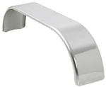 Stainless Steel Fenders, 9 x 66 (1-pair) Flat Top