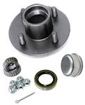 Trailer Wheel Hub KIT for 2000lb. axles - L44643 Bearings - 4 on 4""