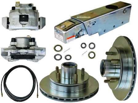 Trailer Buddy Disc Brake Conversion Kit w/A-60 Actuator & Reverse Solenoid, 3500lb. Axle. #KIT22