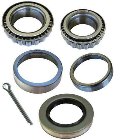 "Trailer Bearing Kit, 1 1/4"" x 1 3/4"" Spindle, LM67048/25580 Bearings"