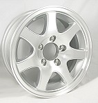 "Aluminum Trailer Wheel 14"" x 5 1/2"" Rim-5 on 4 1/2"" #T02-45545T"