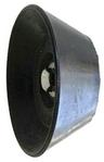 "3"" Diameter End Cap for Trailer Bow Rollers, 1/2"" hole"