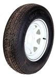 ST205/75D15 LR C Tire On 550 White Spoke Wheel
