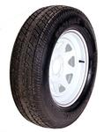 ST205/75D15 LR C Tire On 545 White Spoke Wheel