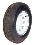 ST225/75D15 LR D Tire On 655 White Spoke Wheel
