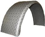 "Single Radius Fender 9""W x 15""H x 32""L 14-GA Treadplate"