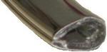 "Edge Guard Flexible PVC Clip-On Chrome 1/8"""