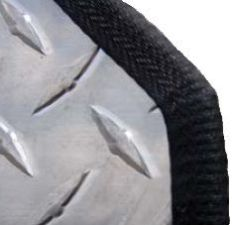 Edge Guard Flexible PVC Clip-On Black 3/32""