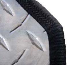 "Edge Guard Flexible PVC Clip-On Black 3/32"""