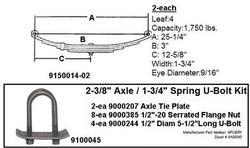 SW4B Spring Kit with APUBR1 U-Bolt Kit