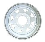 "15"" x 6"" 655 White Spoke Steel Wheel"