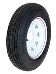 ST175/80D13 LR C Tire On 545 White Spoke Wheel
