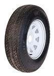 ST225/75D15 LR C Tire On 550 White Spoke Wheel