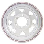 "16"" x 6"" 655 White Spoke Steel Wheel"