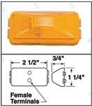 "150A 2-1/2"" x 1-1/4"" x 3/4"" Amber Clearance/Marker Light"
