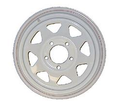 "15"" x 5"" 5475 White Spoke Steel Wheel"