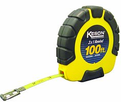 Keson 100 Closed House Steel Tape - 3X Fast Rewind - Engineers Scale Only (#ST101003X)