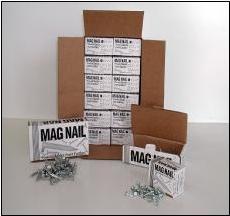 "ChrisNik MAG NAIL 241500 Magnetic Survey Marker 1-1//2/"" x 1//4/"" ~100 per box"