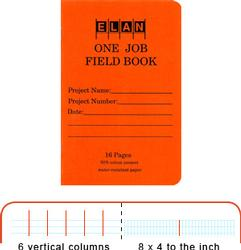 Elan One-Job Field Book (16-page)