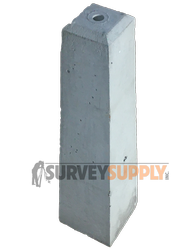 "Concrete Monuments 30"" (1"" hole for cap)"