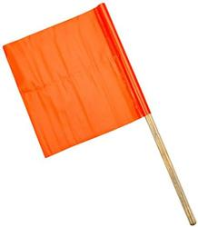 Orange Vinyl Highway Safety Flag (#14994-24-18)
