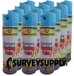 Aervoe Survey Marking Paint Case (12 cans) - Color: BLUE (#203)