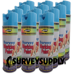 Aervoe Survey Marking Paint Case (12 cans) - Color: BLUE (#203)