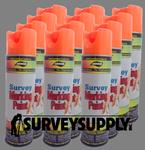 Aervoe Survey Marking Paint Case (12 cans) - Color: FLO. ORANGE (#222)