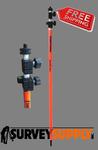 Dutch Hill One-Section Fiberglass Prism Pole - 8.53 ft - Adjustable Tip - Dual Grad (#DH02-001-10)