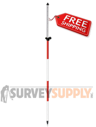 SitePro One-Section Twist Lock Prism Pole - 8.5 ft - Adjustable Tip - Dual Grad (#07-4708-TMA)