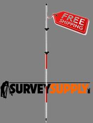 SitePro Two-Section Twist Lock Prism Pole - 11.81 ft - Adjustable Tip - Dual Grad (#07-4712-TMA)