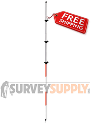 SitePro Three-Section Twist Lock Prism Pole - 15.25 ft - Adjustable Tip - Dual Grad (#07-4715-TMA)