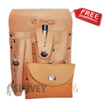 SitePro Saddle Leather Surveyor's Tool Pouch 7-Pocket (#51-10107)
