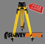 SitePro Heavy-Duty Wood/Fiberglass Tripod - Quick Clamp (#01-WDF20-B)