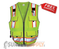 SitePro Surveyors Safety Vest - Class 2 - Flo.Yellow (#23-550)