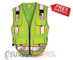 SitePro Surveyor's Safety Vest - Class 2 - Flo.Yellow (#23-550)