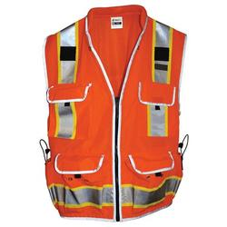 SitePro Surveyors Safety Vest - Class 2 - Flo.Orange (#23-550-OR)