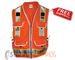 SitePro Surveyor's Safety Vest - Class 2 - Flo.Orange (#23-550-OR)