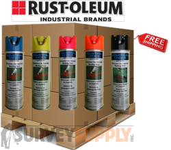 Rust-Oleum Inverted Marking Paint Pallet (25+ cases) - Color: MIX & MATCH