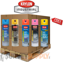 Krylon Quik-Mark Inverted Marking Paint Pallet (30+ cases) - Color: MIX & MATCH