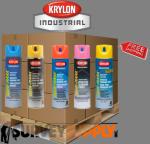 Krylon Quik-Mark Inverted Marking Paint Pallet (36+ cases) - Color: MIX & MATCH