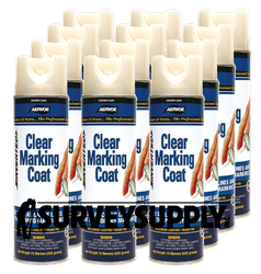 Aervoe Clear Marking Coat Case (12 cans) - Color: CLEAR (#200)