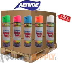 Aervoe Inverted Survey Marking Paint Pallet (55+ cases) - Color: MIX & MATCH