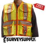 The Party Chief Heavy-Duty Survey Vest - Class 2 - Power Yellow (#PC15X)