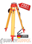 NEDO Surveyors' Grade Wood Tripod - Dual Clamp (#200534-185)
