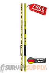 NEDO Self-Illuminating Leveling Rod LumiScale w/ Leica-Sprinter Bar Code (#340225-185)