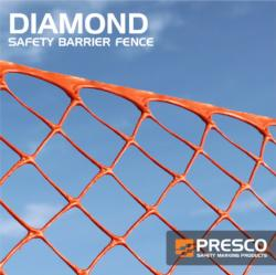 Presco Diamond Safety Fence 4ft x 100ft. (Carton of 2 rolls) (#SBF4100OD)
