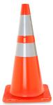 "28"" Traffic Cone w/ 6"" and 4"" Reflective Collars - 7 lb. - Orange"