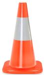 """18"""" Traffic Cone w/ 6"""" Reflective Collar - 3 lb. - Orange"""